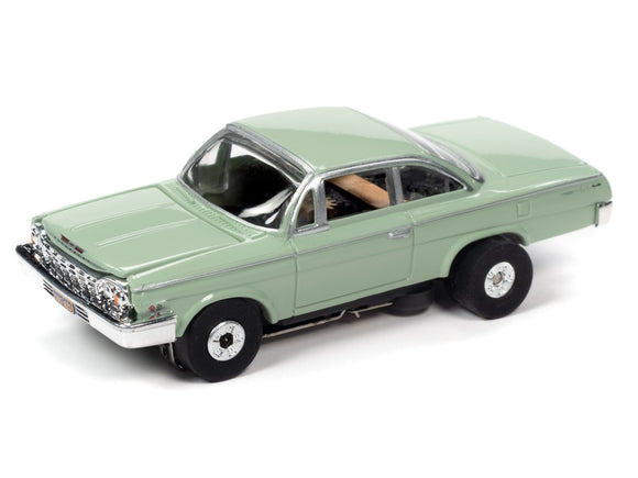 1962 Chevrolet Bel Air |Lime Green |Thunderjet- Release 32 | Auto World | SC359-Toys & Hobbies:Slot Cars:HO Scale:1970-Now-ProTinkerToys.com