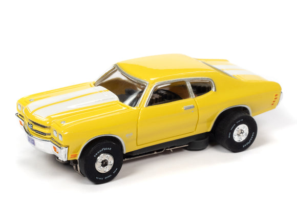 1970 Chevrolet Chevelle SS |Yellow|Thunderjet- Release 32 | Auto World | SC359-Toys & Hobbies:Slot Cars:HO Scale:1970-Now-ProTinkerToys.com