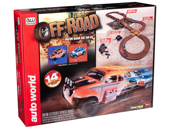 Auto World 14' Off Road X-Traction Slot Race Set HO Scale-ProTinkerToys.com