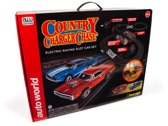 14' County Charger Chase Slot Race Set | SRS335 | Auto World-Toys & Hobbies:Slot Cars:HO Scale:1970-Now-ProTinkerToys.com