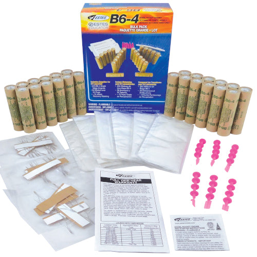 B6-4 Engine Bulk Pack | 1783 | Estes-Hobbytyme Distributors, Inc.-ProTinkerToys