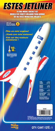 Estes Jetliner Flying Model Rocket Kit | 3230 | Estes-Hobbytyme Distributors, Inc.-ProTinkerToys