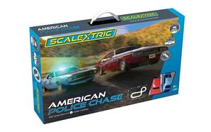 American Police Chase (Amc Javelin Police Car V Dodge Challenger) | C1405T | Scalextric-Toys & Hobbies:Slot Cars:1/32 Scale:1970-Now-ProTinkerToys.com