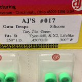 AJ'S | 017 | Gum Drops Silicone Day-Glo Green Tires |-american line-ProTinkerToys