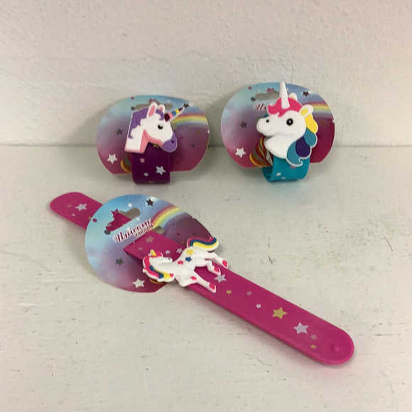 Assorted unicorn slap bracelets-Figures-ProTinkerToys.com