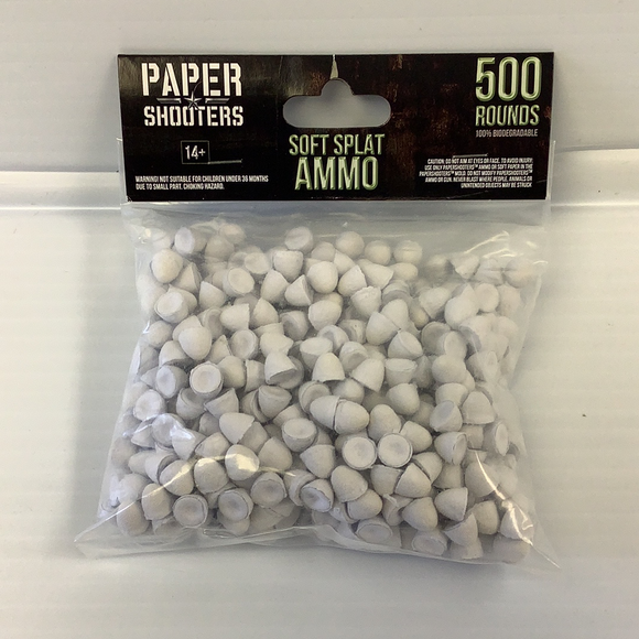 Paper Shooter | 19001 | 500 Rounds-Sporting Goods:Outdoor Sports:Other Outdoor Sports-ProTinkerToys.com