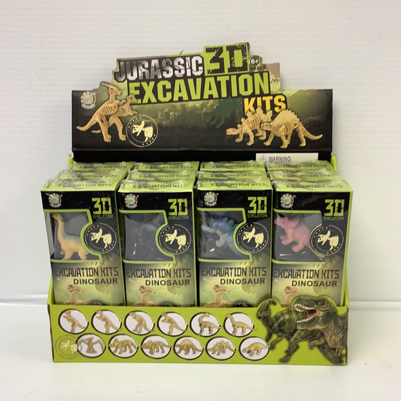 Dinosaur Archeology Dig Counter Display 12 per Display, 12 asst. Dinos| IMX49034 | IMEX Model Company-Figures-ProTinkerToys.com