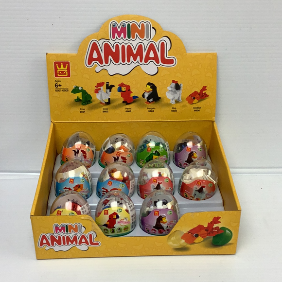 Mini Animal BLK Display(12 piece case pack)| WAG66016 | IMEX Model Company-Figures-ProTinkerToys.com