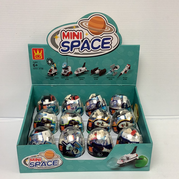 Space Egg Blocks(12  case pack)| WAG67016 | IMEX Model Company-IMEX-ProTinkerToys