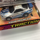 JOHNNY LIGHTNING| 39503 | F&F X TRACTION SLOT CARS FAST AND FURIOUS NISSAN SKYLINE-Auto World-ProTinkerToys