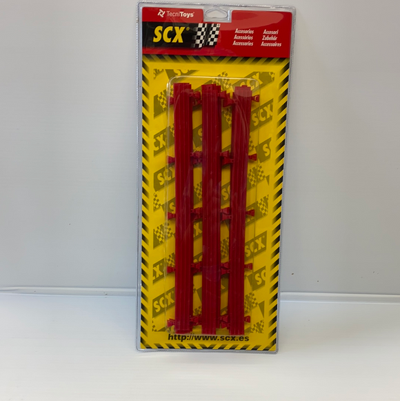 SCX 1/32 ACCESSORIES  1 /EA | 87970 | RED BARRIERS  (10)-SCX-ProTinkerToys
