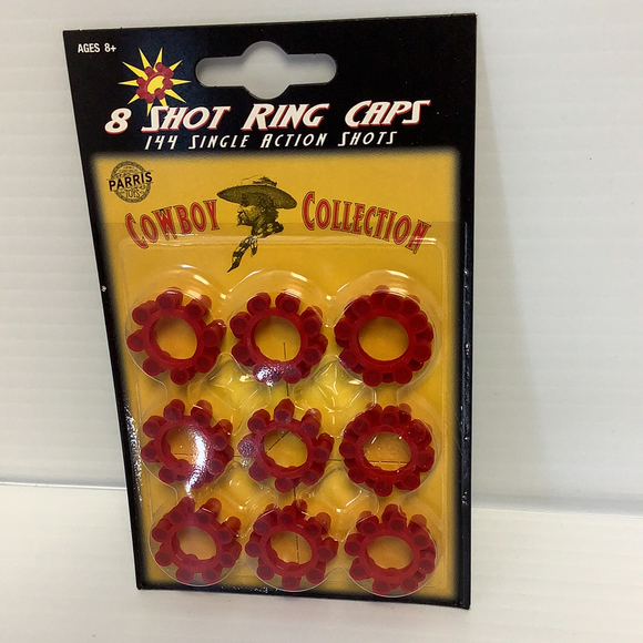 8 Shot Ring Caps 144 Single Action Shots | 913 | Parry Toys-ProTinkerToys.com-ProTinkerToys