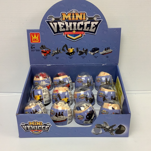 Mini Vehicle Egg Small Display | WAG64016 | IMEX Model Company-Figures-ProTinkerToys.com