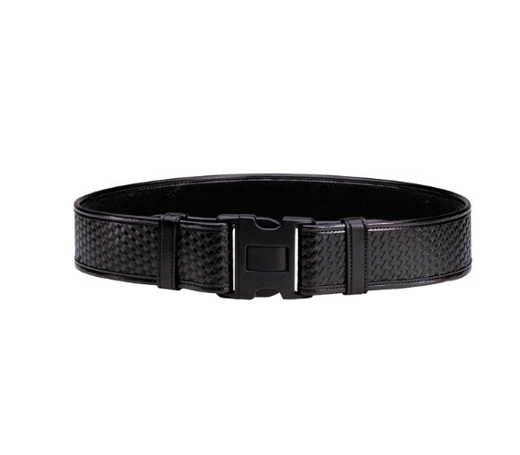BIANCHI DUTY BELT BASKET WEAVE BLACK FINISH MEDIUM 34-40