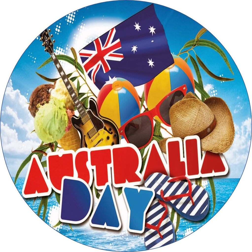 Australia day cake Topper edible Icing or Wafer