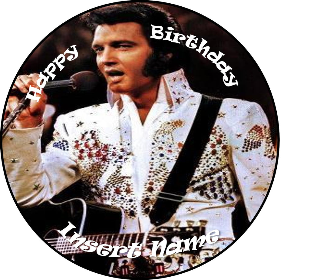 Elvis cake Topper edible Icing sheet or Wafer paper