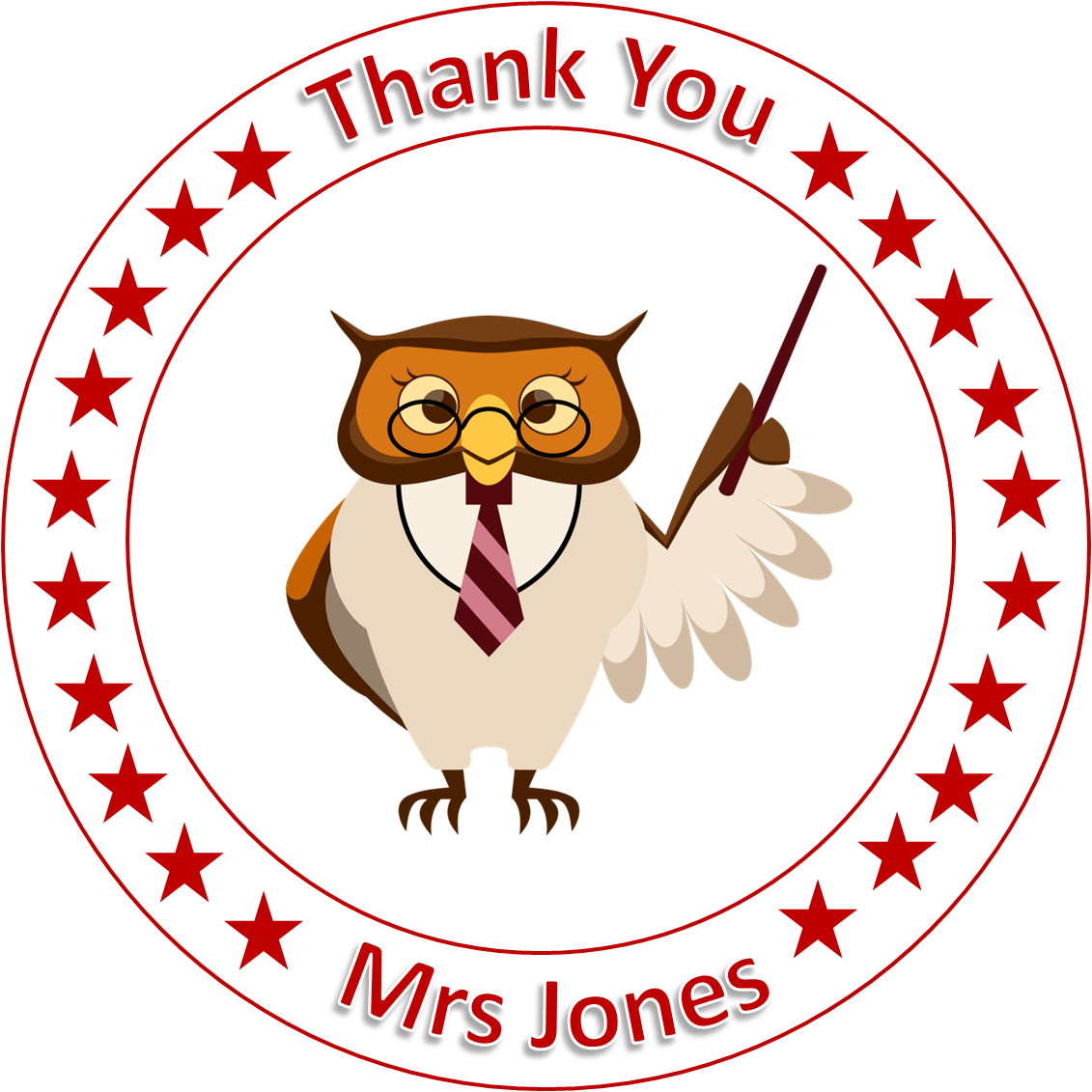 Thank you Teacher cake Topper edible Icing or Wafer