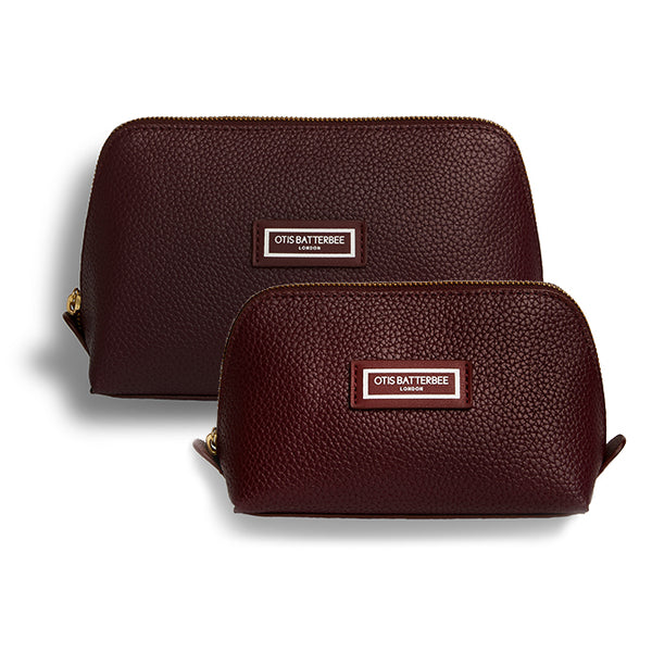 Duo Makeup Bag Set, Burgundy
