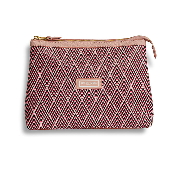 Essential Wash Bag, Cerise Deco