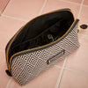 Large Beauty Makeup Bag, Black Deco, Inside