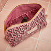 Large Beauty Makeup Bag, Cerise Deco, Inside