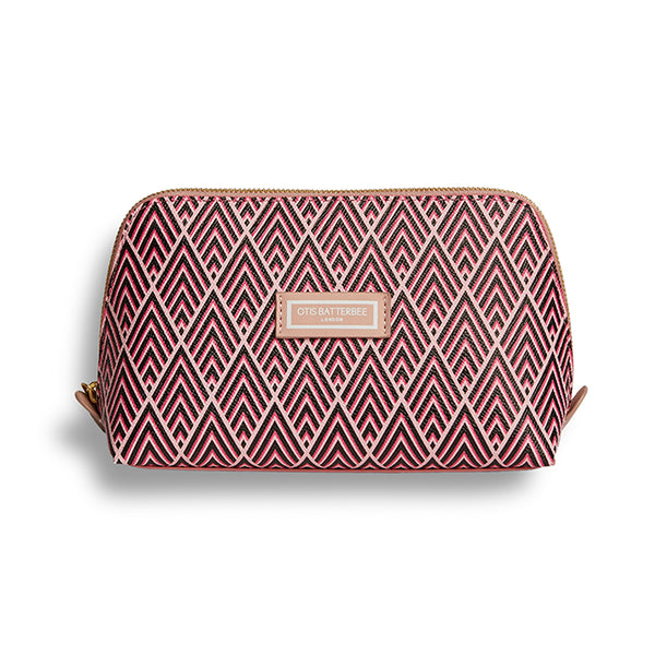 Large Beauty Makeup Bag, Cerise Deco