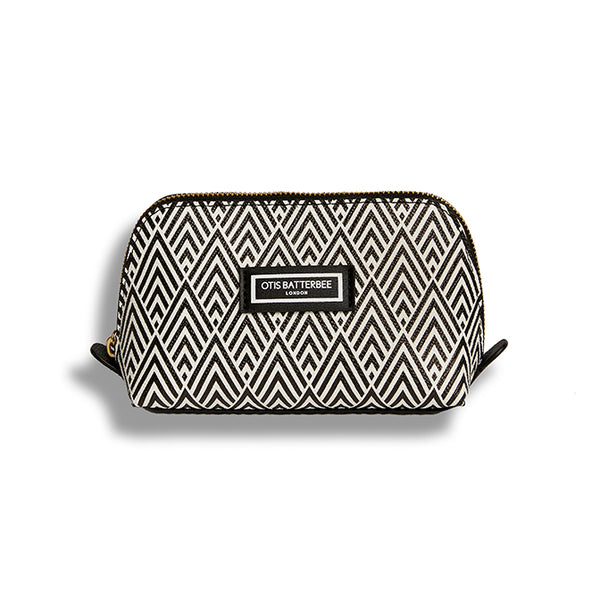 Small Beauty Makeup Bag, Black Deco