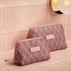 Small Beauty Makeup Bag, Cerise Deco, Lifestyle Shot