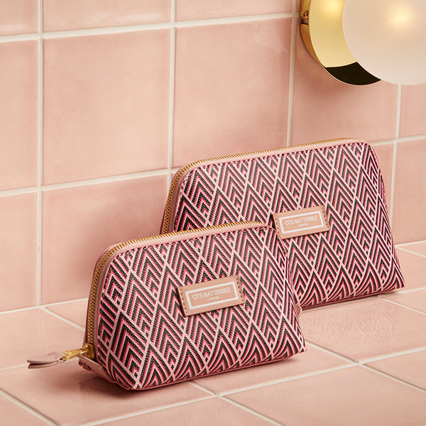 Duo Makeup Bag Set, Cerise Deco, Styled