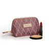 Small Beauty Makeup Bag, Cerise Deco with makeup