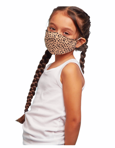 Leopard Kids Mask - Liberty and Co. - Fair Trade- Ethically Sourced- Sustainable  Goods