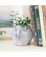 GEO BLACK STONE PLANTER - Liberty and Co. - Fair Trade- Ethically Sourced- Sustainable  Goods