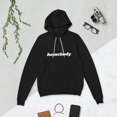 Black/White Homebody | Unisex hoodie - Liberty and Co. - Fair Trade- Ethically Sourced- Sustainable  Goods
