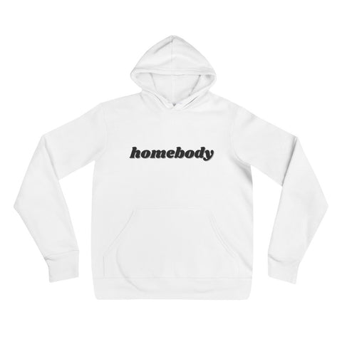 White/Black Homebody | Unisex hoodie - Liberty and Co. - Fair Trade- Ethically Sourced- Sustainable  Goods