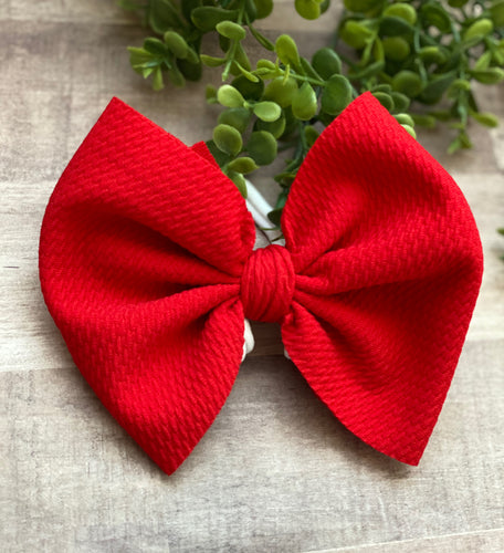 Apple Red {Bow} - Calli Alyse Boutique
