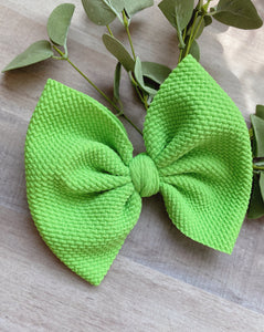 Limeade {Bow} - Calli Alyse Boutique