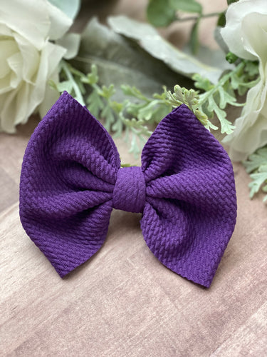 Royal Purple {bow} - Calli Alyse Boutique