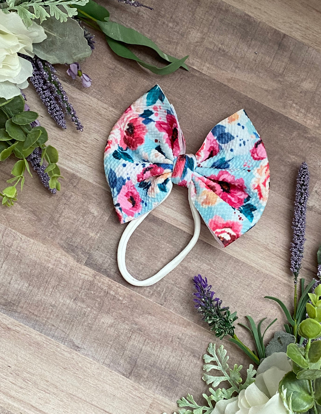 Shabby Chic Floral {bow} - Calli Alyse Boutique