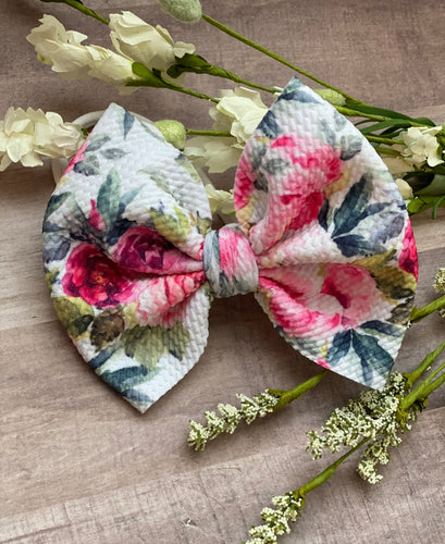 Huntlie Floral {bow} - Calli Alyse Boutique