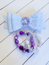 Load image into Gallery viewer, Iridescent Glitter Unicorn {Bow} - Calli Alyse Boutique