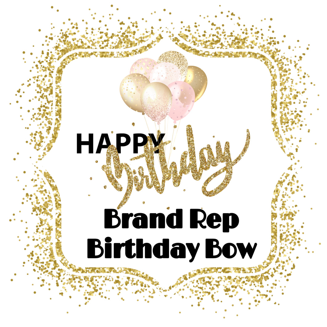 Brand Rep Birthday Bow - Calli Alyse Boutique
