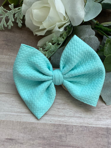 Aqua {bow} - Calli Alyse Boutique