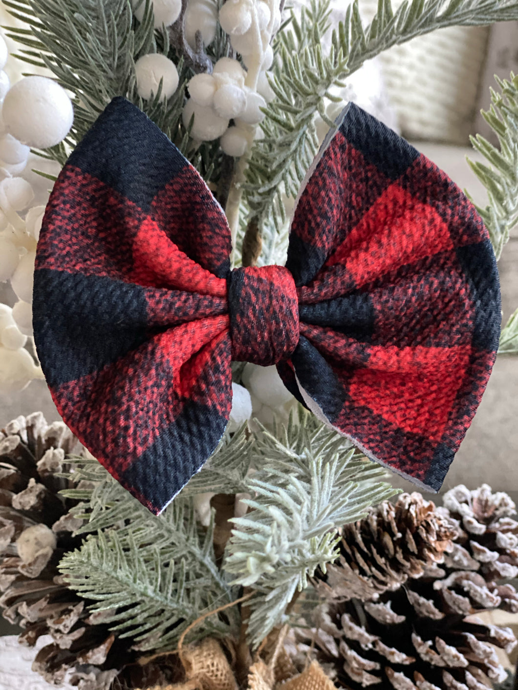 Buffalo Red {Bow} - Calli Alyse Boutique