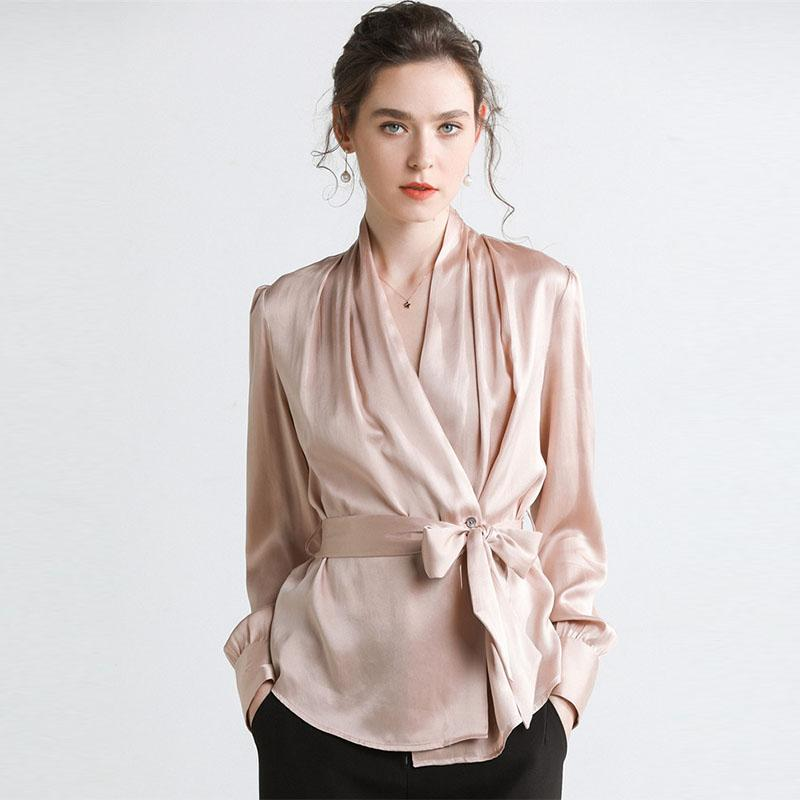 9f7a417f240 16 Mm Heavy Silk Satin Shirt New Style Shirt in Spring and Summer of 2019  ...