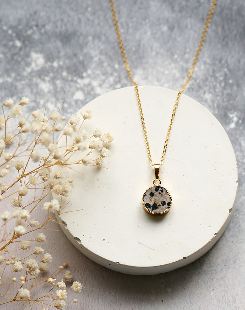 SECONDS SALE - Dalmatian Jasper Harmonia Gemstone Pendant