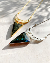 Neith Labradorite Moon Phase Necklace