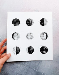 Phases of the Moon Art Print by The Moon Journal