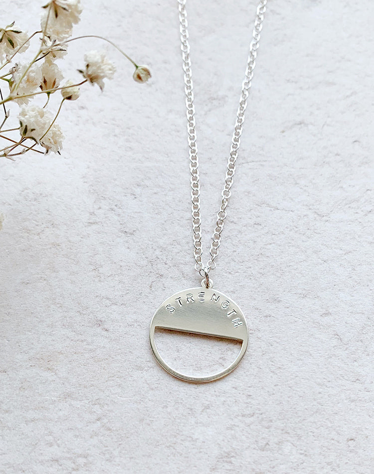 Dual - Personalised Sterling Silver Pendant
