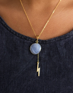 Bolt Out Of The Blue Necklace