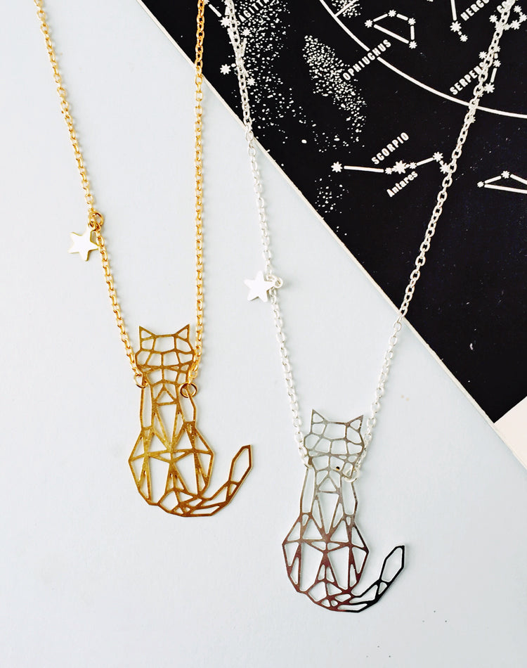 Felis Cat Personalised Constellation Necklace